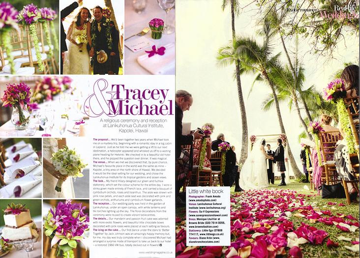 Uk S Wedding Flowers Magazine Frank Amodo Photography Hawaii